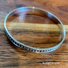 Ellipsis Bangle 6mm Wide