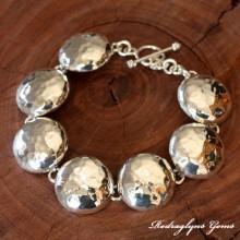 Half Orb Hammered Bracelet