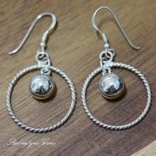 Silver Twist Ball Earrings