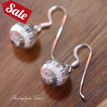 Silver Ball Earrings 12mm