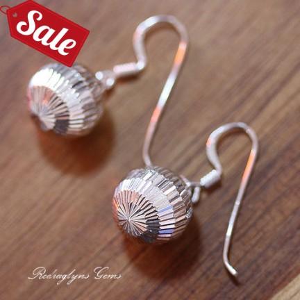 Silver Ball Earrings 12mm