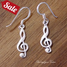 Silver Music Earrings