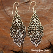Silver Artistic Motifs Earrings
