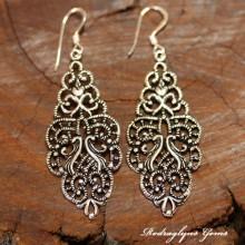 Silver Artistic Motifs Earrings