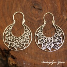 Silver Filigree Floral Earring
