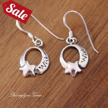 Silver Wish Upon a Star Earrings