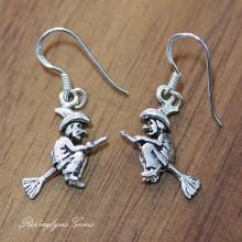 Silver Witch Earrings