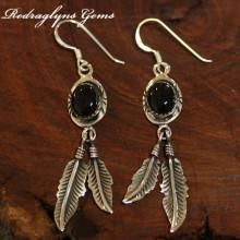 Indian Silver Earrings Black