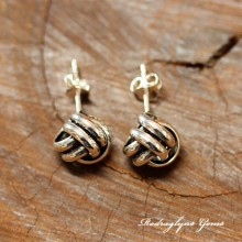 Silver Knot Studs - Large