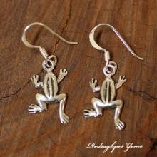 Silver Frog Earrings