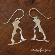 Silver Dog and Cat Earrings
