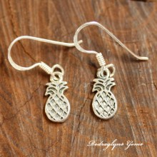 Silver Pineapple Earrings