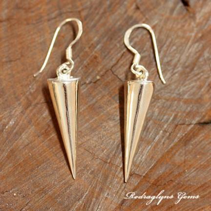 Silver Spear Earrings
