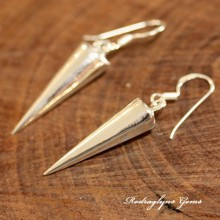 Silver Spear Earrings