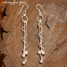 Silver Twisted Earrings