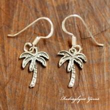 Silver Palm Tree Earrings