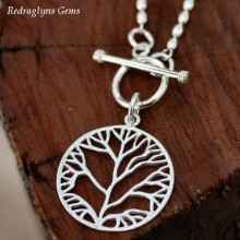 Silver Large Tree of Life Pendant