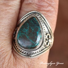 Chrysocolla Ring Size 9