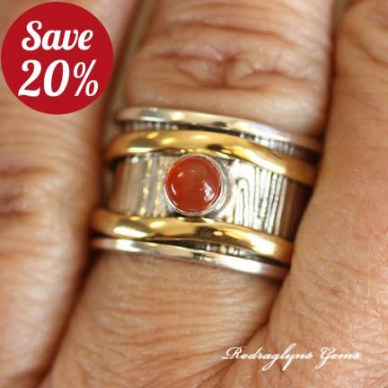 Carnelian Spinner Ring SZ 8