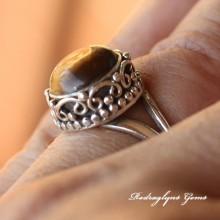 Tiger Eye Ring Size 8