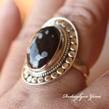 Snowflake Obsidian Ring 9