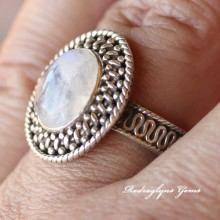 Moonstone Ring Size 10