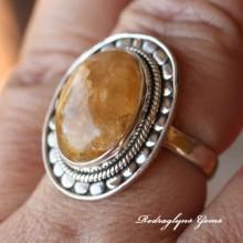 Rutilated Quarz Ring Size 8