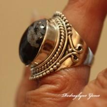 Snowflake Obsidian Ring - 5