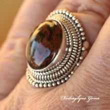 Tigereye Matrix Ring Size 8