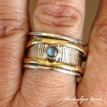 Labradorite Spinner Ring SZ11