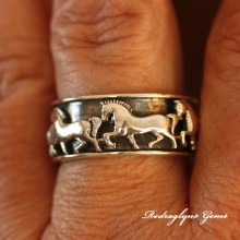 Silver Horse Ring