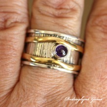 Amethyst Spinner Ring SZ11