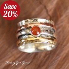 Carnelian Spinner Ring SZ 8