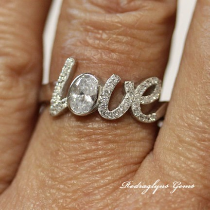 Silver Love Ring