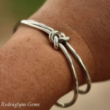 Love Knot Double Bangle