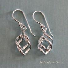 Silver Twist Earrings