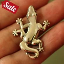 Silver Gecko Pendant