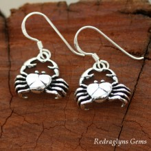 Silver Crab Earrings