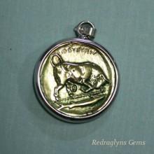 Bronze & Silver Coin Pendant