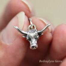 Silver Long Horn Pendant