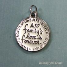 Silver Family Pendant