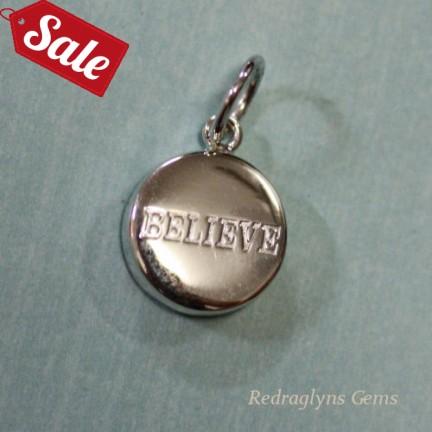 Silver Believe Pendant