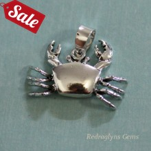 Silver Crab Pendant