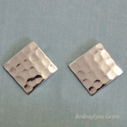 Silver Hammered Studs