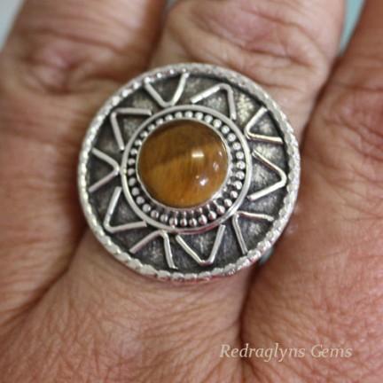 Tigers Eye Ring SZ 11