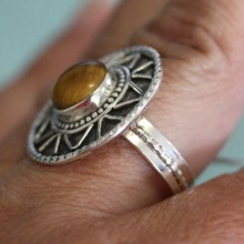 Tigers Eye Ring SZ 11