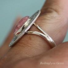 Rhodochrosite Ring Size 10